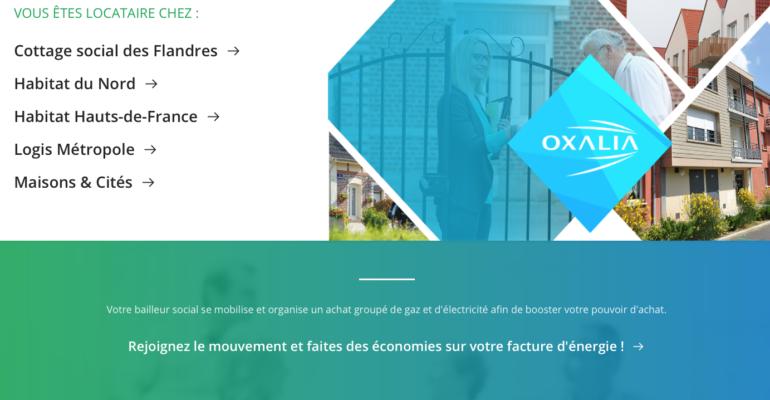 Plateforme web - Oxalia - Oxinergie - Bailleurs Sociaux - Hauts de France