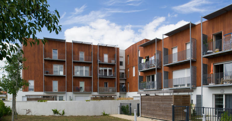 Logements groupés, Clisson, labellisés par la Maison passive France.