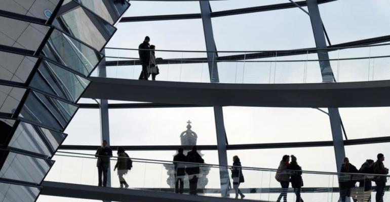 coupole du bâtiment du Reichstag, Berlin.