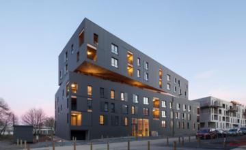 Mouvement Perpétuel, bâtiment passif de la ZAC de Beauregard Quincé à Rennes
