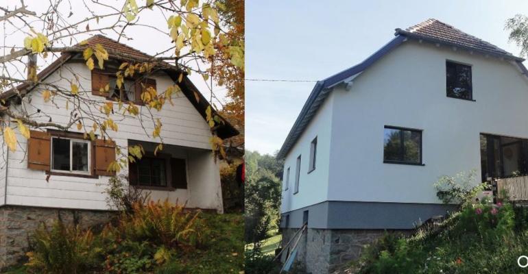 Facade maison rénovée en Alsace grâce à Oktave
