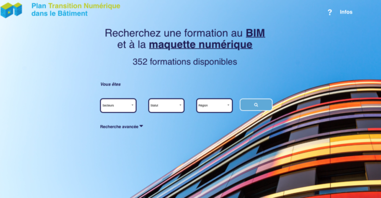capture écran site formation BIM PTNB