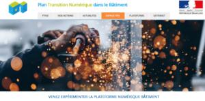 capture écran plateforme collaborative BIM PTNB