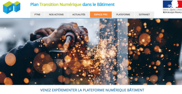 capture écran plateforme collaborative BIM PTNB