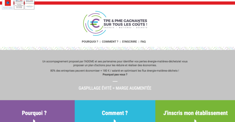 Site web opération Ademe gagnantessurtouslescouts